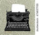 Typewriter. Vector Illustratio...