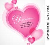 valentines day illustration... | Shutterstock .eps vector #67684456