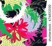 coloring mechanic flower... | Shutterstock .eps vector #676852030