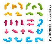 isometric arrows in different... | Shutterstock . vector #676856638