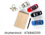 choosing car concept. toy car... | Shutterstock . vector #676860250