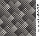 vector seamless geometric... | Shutterstock .eps vector #676860850