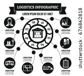 logistics infographic banner...   Shutterstock .eps vector #676862818