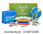 back to school concept with... | Shutterstock . vector #676871038