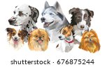 set of colorful vector...   Shutterstock .eps vector #676875244