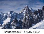 nesthorn  aletsch area ... | Shutterstock . vector #676877110