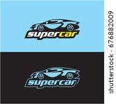 car logo  sports car | Shutterstock .eps vector #676882009