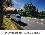 trucks transportation   Shutterstock . vector #676884568