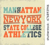 new york sport wear typography... | Shutterstock . vector #676893946