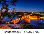 penny backer bridge before... | Shutterstock . vector #676896703