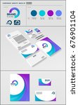 business corporate identity...   Shutterstock .eps vector #676901104