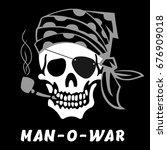 vector image of skull captain... | Shutterstock .eps vector #676909018