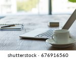 business desk   Shutterstock . vector #676916560