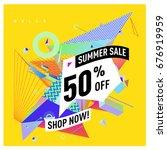 summer sale geometric style web ...   Shutterstock .eps vector #676919959