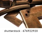 wood products with tenon and... | Shutterstock . vector #676922920