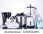 household appliances  on a... | Shutterstock . vector #676932694