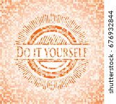 do it yourself abstract emblem  ... | Shutterstock .eps vector #676932844