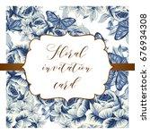 vintage delicate invitation...   Shutterstock . vector #676934308