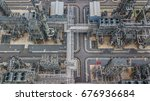 aerial view of petrochemical... | Shutterstock . vector #676936684