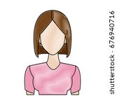portrait woman young character... | Shutterstock .eps vector #676940716