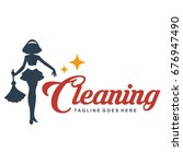 cleaning lady service woman... | Shutterstock .eps vector #676947490