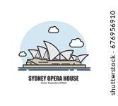 sydney opera house. landmark... | Shutterstock .eps vector #676956910