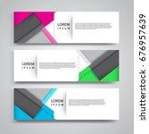 vector set abstract geometric...   Shutterstock .eps vector #676957639