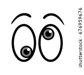 crazy cartoon eyes vector... | Shutterstock .eps vector #676959676