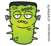 Cartoon Frankenstein Monster...
