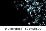 3d shattered glass background | Shutterstock . vector #676965670