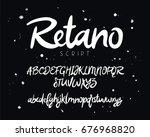fashionable modern vector font... | Shutterstock .eps vector #676968820