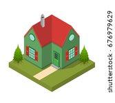 residential building isometric...   Shutterstock .eps vector #676979629