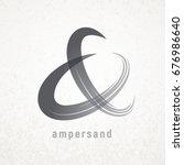 ampersand. elegant vector... | Shutterstock .eps vector #676986640