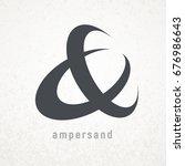 ampersand. elegant vector... | Shutterstock .eps vector #676986643