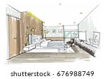 home interior furniture with... | Shutterstock . vector #676988749