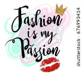 fashion is my passion. girlish...   Shutterstock .eps vector #676993414
