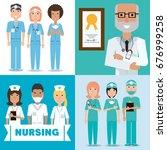 set specialist medical doctors... | Shutterstock .eps vector #676999258