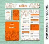 cafe or restaurant identity... | Shutterstock .eps vector #677000983