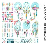 templates for greeting cards... | Shutterstock .eps vector #677034784
