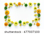 creative frame with colorful... | Shutterstock . vector #677037103