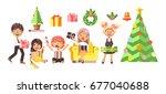 stock vector illustration... | Shutterstock .eps vector #677040688