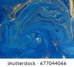 marbled blue and golden... | Shutterstock . vector #677044066