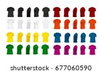 t shirt template set of... | Shutterstock .eps vector #677060590