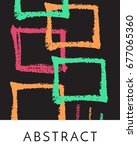 an abstract artistic creative... | Shutterstock .eps vector #677065360