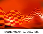 race flag wave  waveing...   Shutterstock .eps vector #677067736
