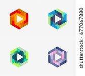 modern abstract design vector... | Shutterstock .eps vector #677067880