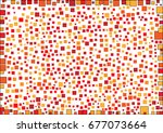geometric shape on white...   Shutterstock .eps vector #677073664