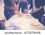 business people meeting to... | Shutterstock . vector #677079658