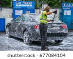 editorial use only  car wash by ... | Shutterstock . vector #677084104