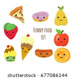 set with different adorable... | Shutterstock .eps vector #677086144